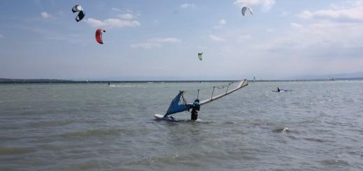 Surfer bei Nordost-Wind